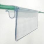"""Portaetiquetas PVC """"Rígido"""" Transparente Para Cristal"""