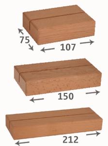 Displays verticales tte. 1 hoja + base madera
