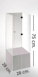 Dispensador cubo blanco