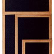 Pizarras con marco de madera para pared