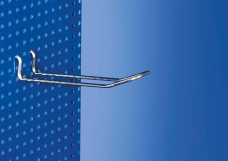 Ganchos dobles metálicos para panel de chapa perforada