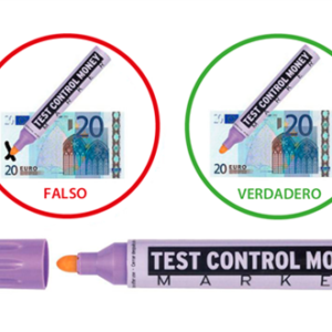 Rotulador Detector Billetes Falsos