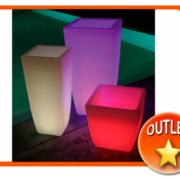 Maceteros luminosos LED sin cables